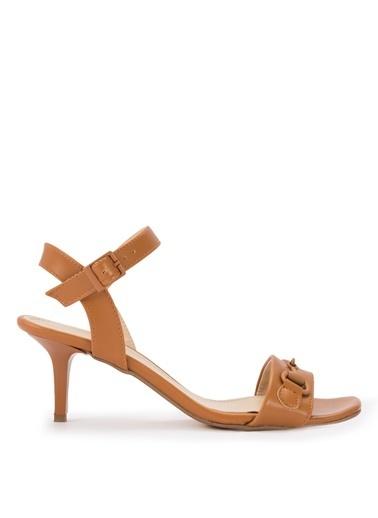 Sole Sisters Topuklu Sandalet Taba - Cristin Ten